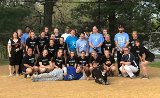 JC's Softball team scrimmages a local team from Special Olympics Maryland graphic