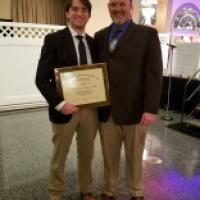 Patriot Will Giannelli honored at the Baltimore Chapter of the National Football Foundation's Scholar Athlete Banquet
