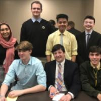 Academic Team secures  third place in the Catholic League